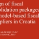 Design of fiscal consolidation packages and model-based fiscal multipliers in Croatia