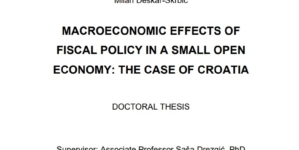 Macroeconomic effects of fiscal policy in a small open economy– the case of Croatia